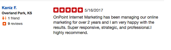 Onpoint internet marketing seo services reviews are positive.