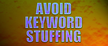 tip to avoid keyword stuffing with seo