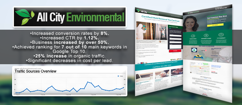 Mold removal search engine optimization services results.