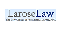 Blue and gray Larose Law image, onpoint internet marketing law marketing case study.
