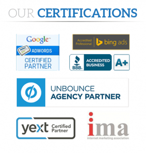 California search optimization service globally recognized certifications and badges.